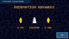 Sticker redemption