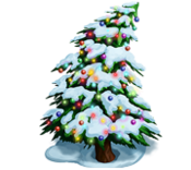 Decoration 3x3 christmas tree snow tn@2x