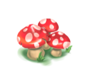 Decoration 1x1 mushrooms red tn@2x