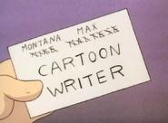 MontanaMaxMikeMalteseCartoonWriterCard