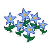 Decoration starflowers blue thumbnail@2x