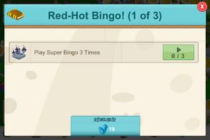 Red hot bingo error