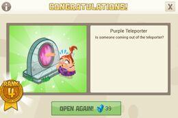 Purple teleporter