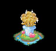 Decoration goldenrose bouquet@2x
