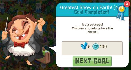 Circus 5crystal Reward