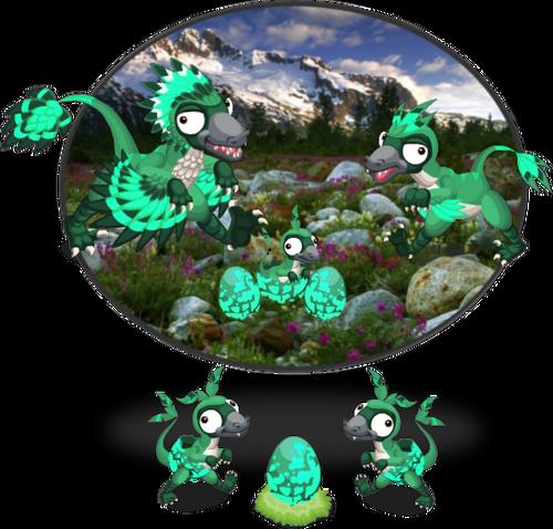 EmeraldBambiraptor Diorama1