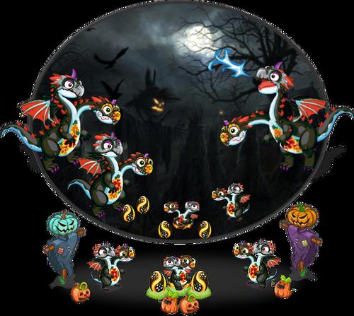 SpookyTwoHeadedDragon Diorama2
