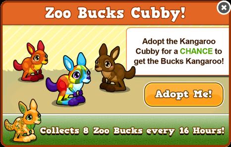 Cubby kangaroo modal