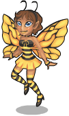 Honey bee fairy static