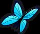 Blue butterfly single