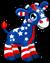 Cubby giraffe patriotic single