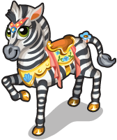 Carousel zebra single