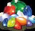 Collection reward gemstone pile