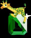 Glitzy giraffe an