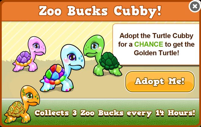 Cubby turtle modal