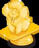 Miniature poodle trophy