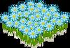 Lovely Blue Flowerbed