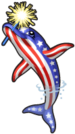 Patriotic dolphin single