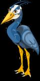 Great blue heron singlel