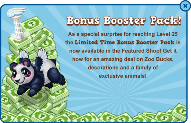 Booster pack panda modal