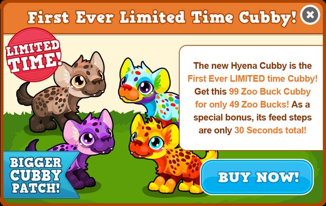 Cubby hyena modal