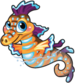Glow seahorse single