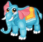 Aquamarine elephant single
