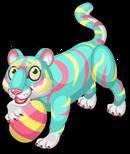 Pastel tiger single