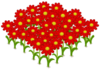 Lovely Red Flowerbed