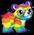 Cubby bear rainbow single