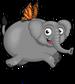 Butterfly elephant single