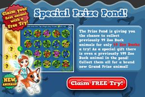 Fairy on corgi prize pond modal