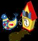 Cuckoo clock bird single