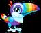 Cubby toucan rainbow single
