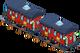 Holiday train passenger car