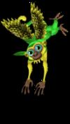 Green parakeet monkey an