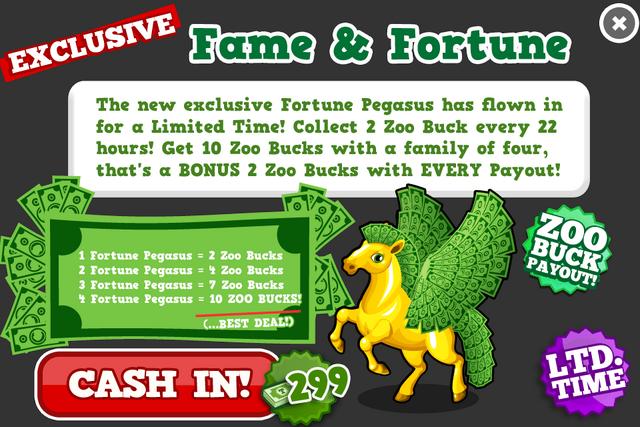 Fortune pegasus modal