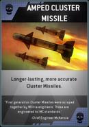 Amped Cluster Missile