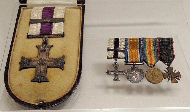 File:Cobh-Heritage-Centre-Francis-Browne-War-Decorations.JPG