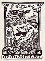 Bookplate of Francis Davis Millet