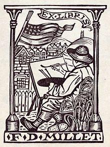 File:Bookplate of Francis Davis Millet.jpg