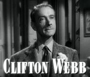 Clifton Webb in Laura trailer.jpg