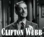 Clifton Webb in Laura trailer