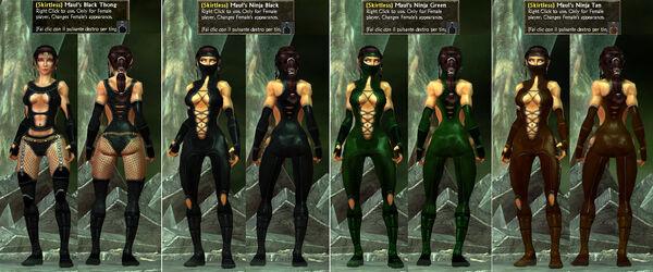 -Skirtless- Maul's BlackThong-Ninja