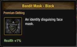 Tlsdz bandit mask - black