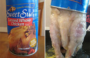 Canned chicken real