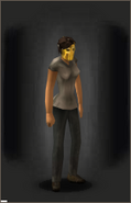 The Golden God equipped female