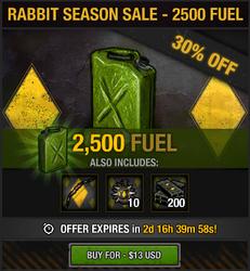 Rabbit Season Sale - 2500 fuel
