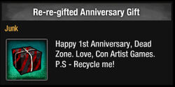 Re-re-gifted Anniversary Gift