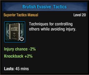 Brutish Evasive Tactics
